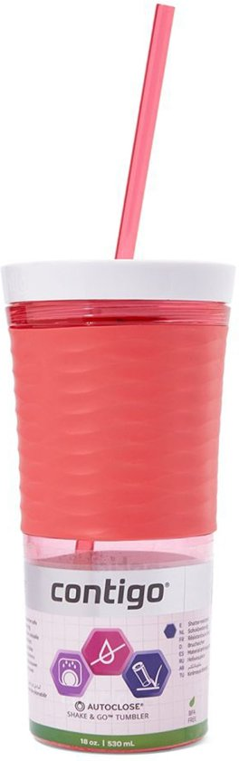 Contigo Shake & Go - Drinkbeker - 530ml - Watermelon