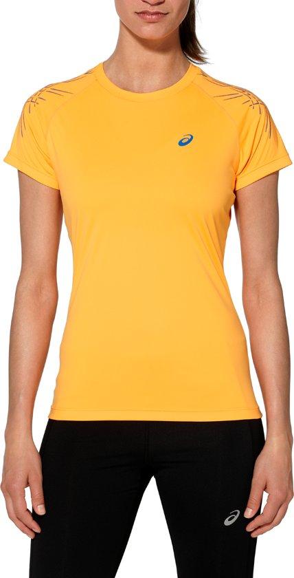 287b2a7c32a bol.com | asics Stripe hardloopshirt Dames SS Top oranje Maat L