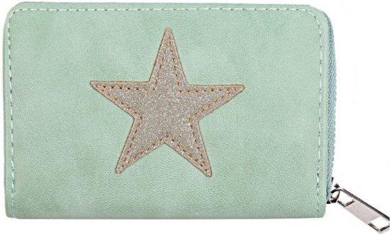 006cb22fd47 Portemonnee pastel groen met ster / Kleine portemonnee/ Wallet /  Voorjaarscollectie 2018