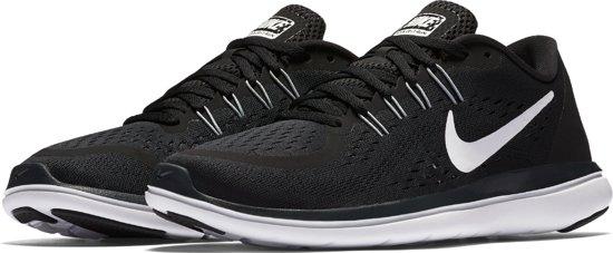 Nike Wmns Flex 2017 Rn Hardloopschoenen Dames - Black/White-Anthracite-Wolf Grey