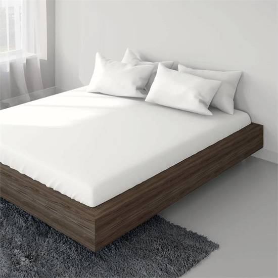 Wit Bed 2 Persoons.Bol Com Jersey Hoeslaken Wit 2 Persoons 140 160 X 200 Cm