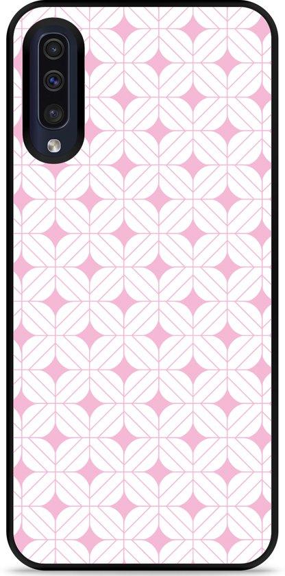 Galaxy A30s Hardcase hoesje Geometrisch Pink