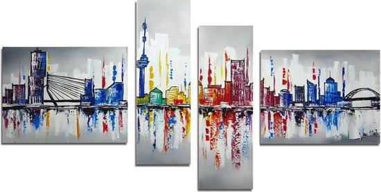 Schilderij skyline rotterdam ii for Skyline schilderij