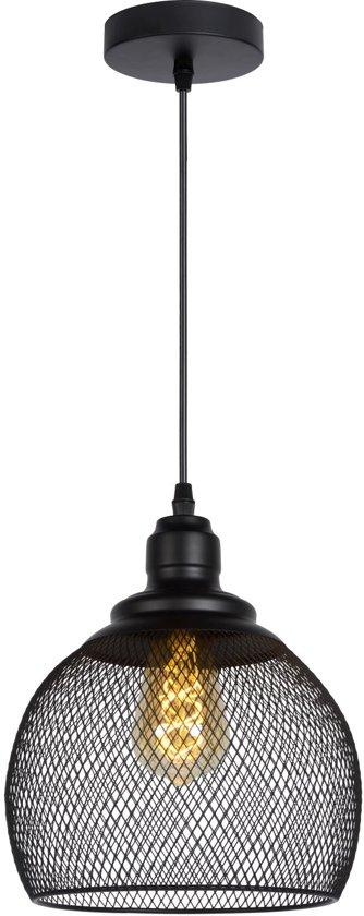 Lucide MESH - Hanglamp - Ø 22 cm - E27 - Zwart