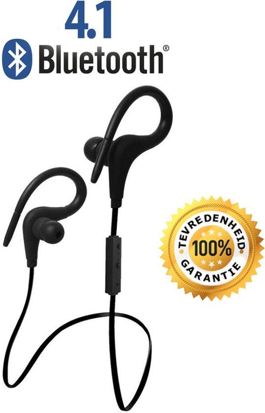 Bluetooth 4.1 In-ear Oortjes | Draadloze Koptelefoon | Wireless Headset | Oortjes | Oortje | Hoofdtelefoon | Oortelefoon | Inear Headphones | Headphone | Draadloos | Sport Headsets | Earbud | Ear-bud | Muziek | Earphones | Zwart in Houwerzijl