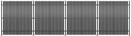 vidaXL Hekpanelen 4 st 720x180 cm aluminium antraciet