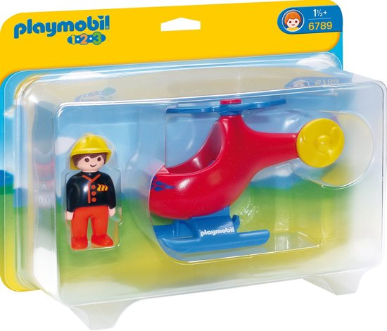 PLAYMOBIL 123 Brandweerhelikopter - 6789