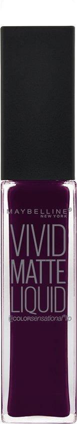 Maybelline Vivid Matte Liquid - 45 Posessed Plum - Paars - Lippenstift