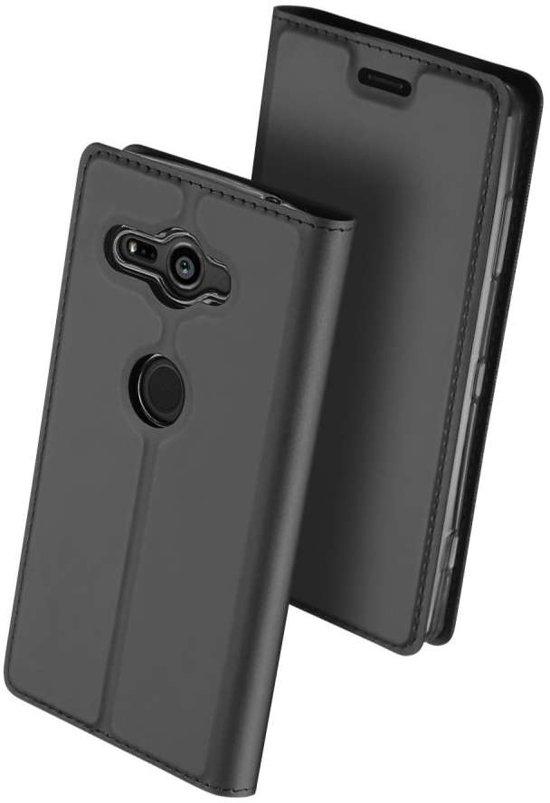 Housse Noire Livret Mince Pour Sony Xperia Xz2 Compact RZykDL