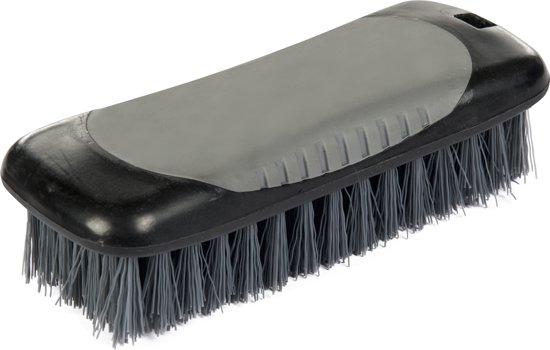 HKM Lange borstel -Grippy- met harde haren zwart/grijs