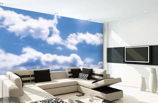 Clouds - Fotobehang - 232 x 315 cm - Multi
