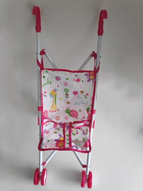 Poppenbuggy Roze Speelgoed Baby Wagen Voor Kinderen v.a. 3 Jaar | Kinderwagen Speelgoed Kinderwagenspeeltje 51 CM| Mijn Eerste Poppenwagen Babyspeelgoed Peuter Kleuter