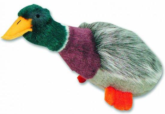 Happy Pet Migrator - Hondenspeelgoed - Pluche Wilde Eend - 38 x 16 x 10 cm