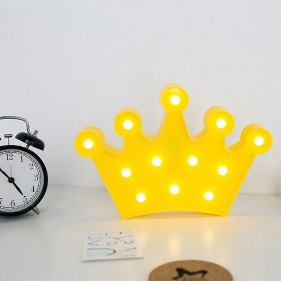 bol.com | Crown Kroon lamp led verlichting tafel slaap woonkamer geel