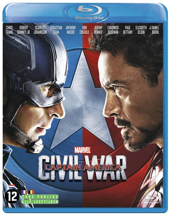 DVD cover van Captain America: Civil War (Blu-ray)