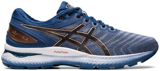 Ascis Gel-Nimbus 22 hardloopschoenen heren blauw/brons