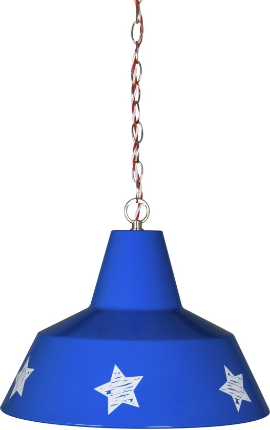 Lief! hanglamp - metaal - blauwe ster