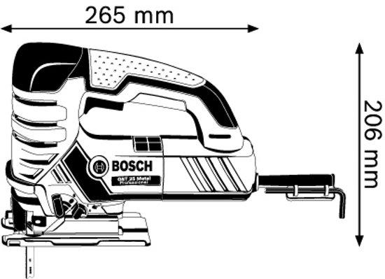 Bosch Professional GST 25 metaal Decoupeerzaag - 670 Watt - Met opbergkoffer