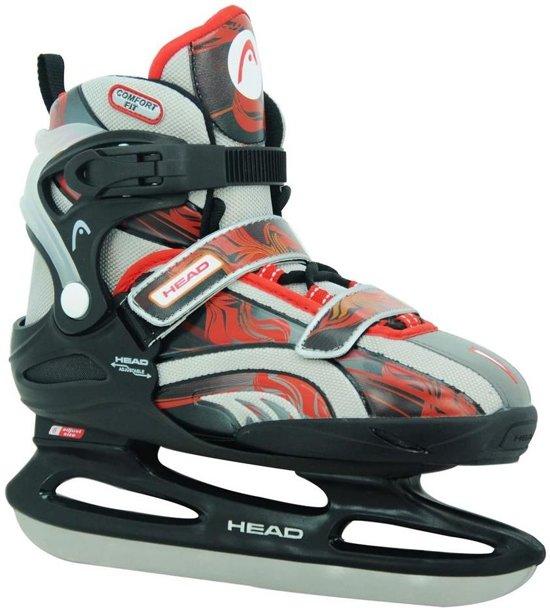 Head Ijshockeyschaatsen Pro Junior Rood/grijs/zwart Maat 26-31