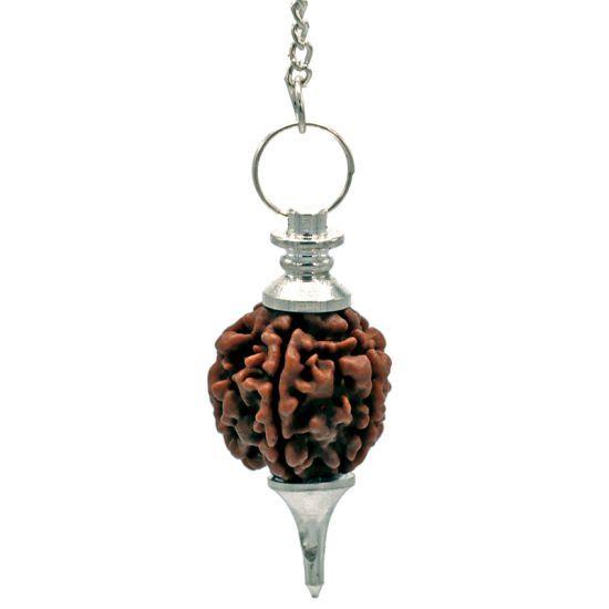 Rudraksha Pendel zilverkleurig - 4.5 cm - 10 g