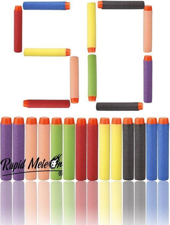 Nerf Pijltjes Gekleurd 50 Stuks voor Nerf Gun Mix Colours - NERF - 50 Pijltjes - Darts - Schieten - Foam Bullets - Schuim Kogels - Populaire Schietspel Nerf - Ammo - Nerf Pijlen - Kado Kind - Cadeau voor Jongen & Meisje