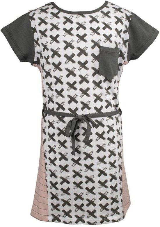 14cdae010e99b6 rumbl jurk met grijze kruisjes - maat 92 98