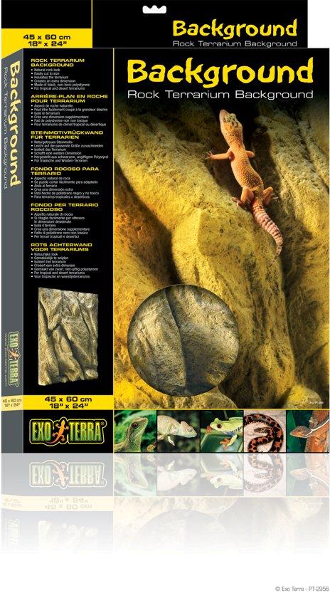 Exo Terra - Rotsachterwand voor Terrariums - Steenmotief - 45x60cm