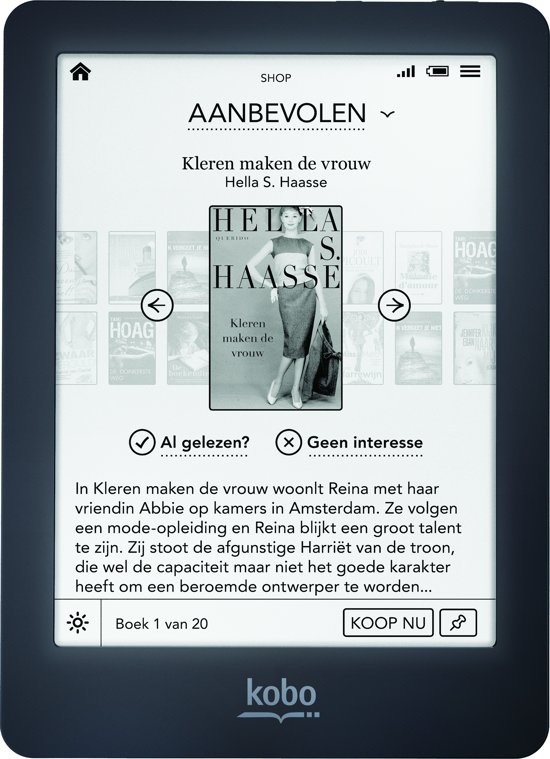 Kobo Glo Refurbished - Zwart - e-reader