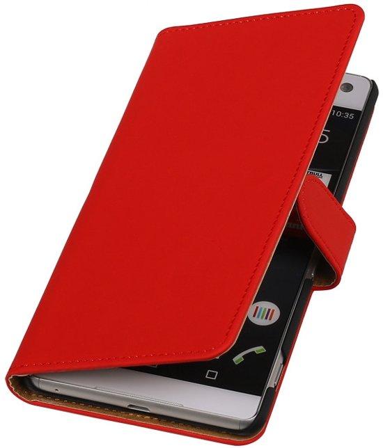 Sony Xperia C5 Ultra Rood booktype - bookstyle - Book Case - Wallet Case - Flip Cover hoesje in Boijl / Boyl