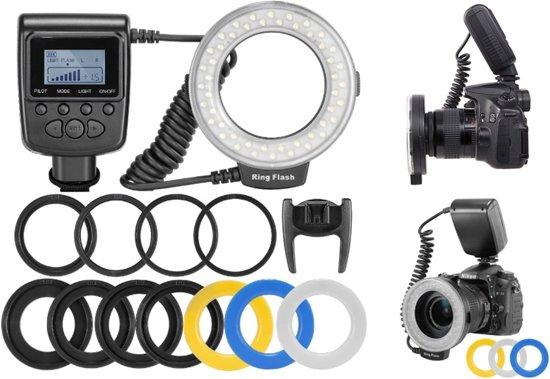 LED Macro Ring Flash flitser Canon Nikon Olympus camera