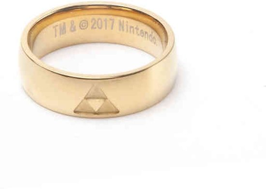 Zelda - Golden Ring with Triforce logo-M
