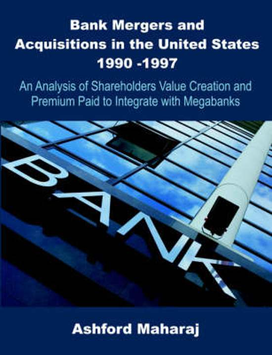 an analysis of bank mergers Estimating the impact of bank mergers requires a framework distinguishing endogenous changes in market structure and conduct from exogenous changes conventiona.