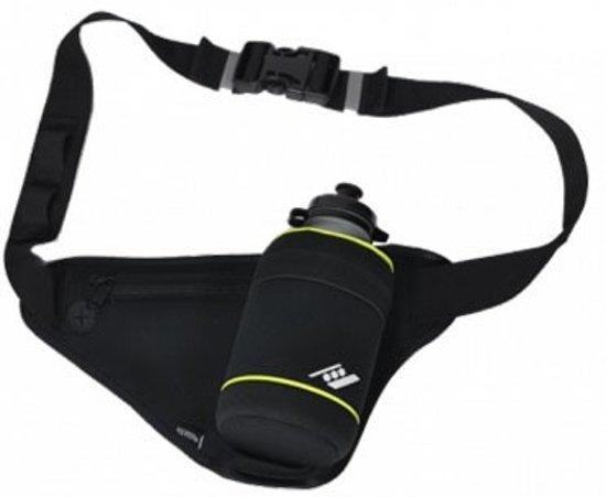 Rucanor Bottle Belt - Drinkgordel inclusief 1 fles - Zwart