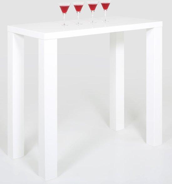 Bijzettafel Keuken Wit.Bol Com 24designs Bartafel Nina 120 X 60 X 107 Cm Wit