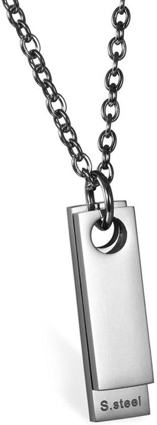 Luxe Dogtag kettinghanger mendes Zilverkleurig