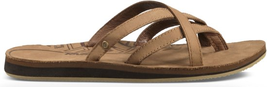 34e830749dc3a1 Teva Olowahu Leather Slippers dames Slippers - Maat 40 - Vrouwen - bruin