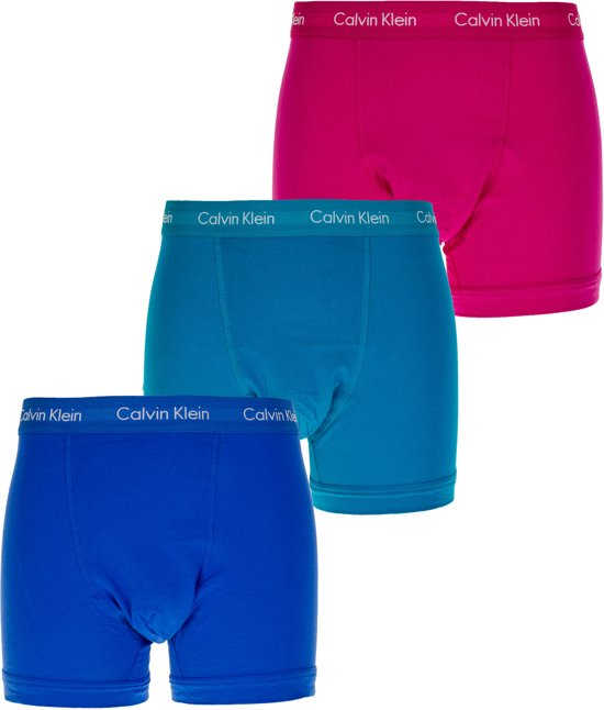 a079d45c9e7ea6 Calvin Klein Klein Trunks boxershorts Heren Sportonderbroek - Maat M -  Mannen - blauw/roze