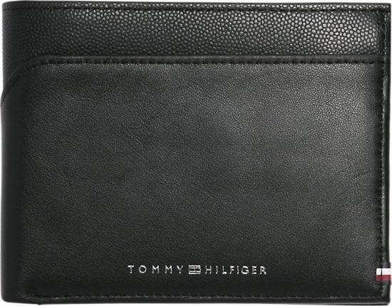 0b78cbbf518 Tommy Hilfiger - Bi-Material - Extra CC and coin heren portemonnee - Black
