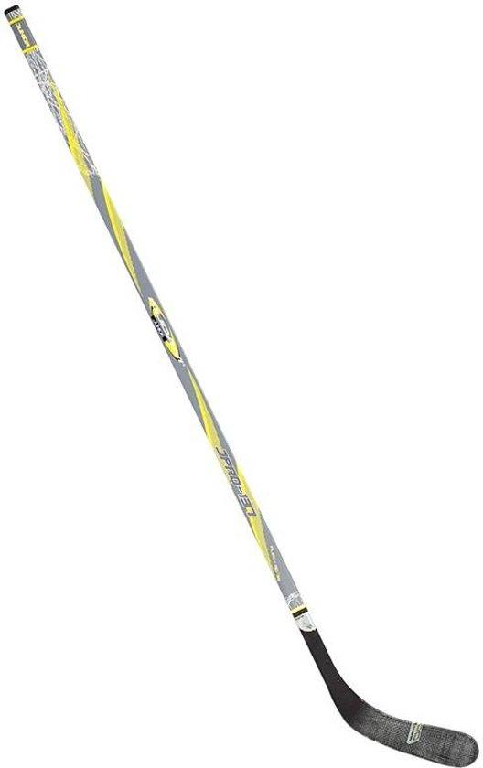 Nijdam IJshockeystick Hout/Glasfiber Jr - 137 cm - Blauw/Zwart/Zilver/Wit - Rechts