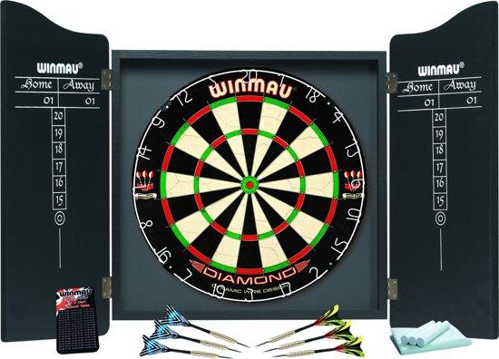 Winmau PDS dartkabinet - incl. dartbord en dartpijlen