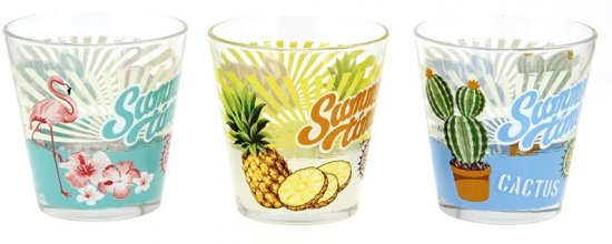 Cerve Fun in the Sun sapglas glazen 250 ml - 2x set-3 Valentinaa