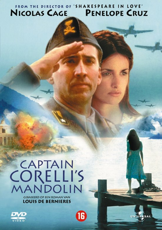 Cover van de film 'Captain Corelli's Mandolin'