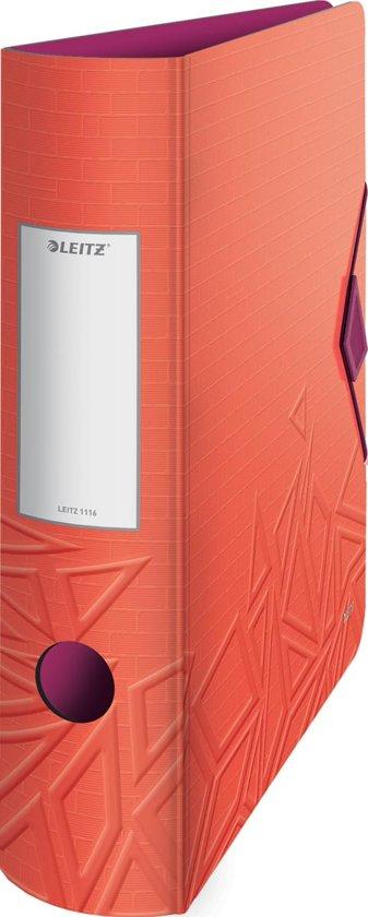 5x Leitz Active ordner Urban Chic, rug van 7,5cm, rood