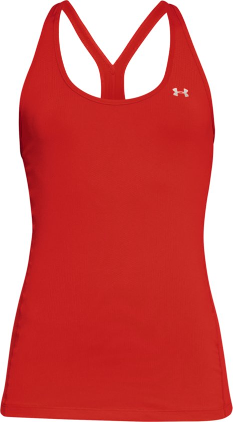 Under Armour HG Armour Racer Tank Sporttop Dames - Radio Red - Maat M