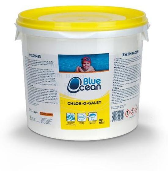 Chloor Zwembad Tabletten 5kg Chlor-o-galet Blue Ocean