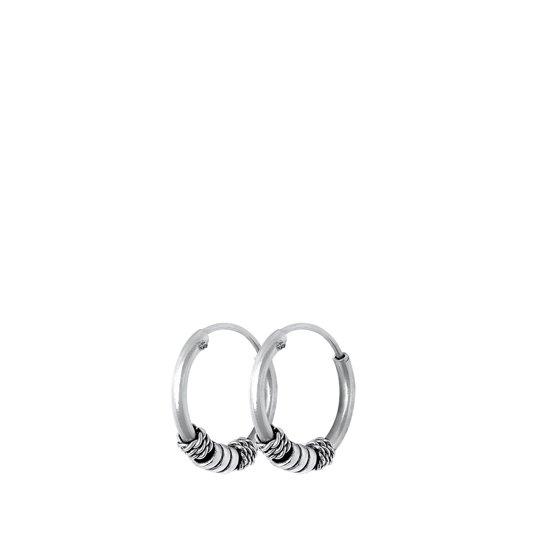 Lucardi - Zilveren oorbellen Bali 12mm