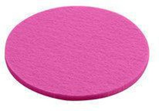 Daff Onderzetter - Vilt - Rond - 10 cm - Pink - Roze