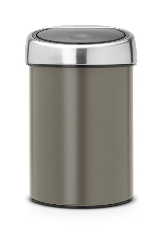 Brabantia Touch Bin 3 Liter Platinum