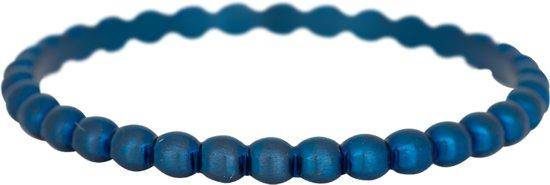 iXXXi JEWELRY - Vulring - Bolletjes ring - Blauw - 2mm - Maat 19