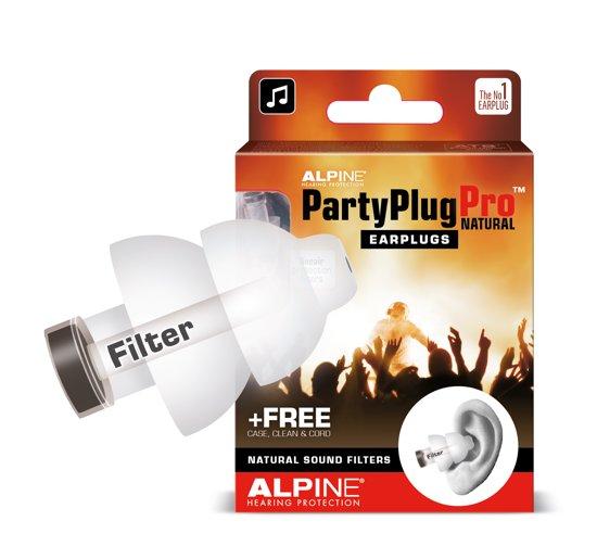 Alpine PartyPlug Pro Natural Muziek Oordoppen Transparant - 1 paar